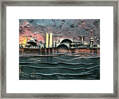 Industrial Port-part 2 By Rafi Talby Framed Print by Rafi Talby