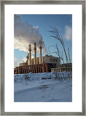 Industrial Power Station Framed Print by Jim West
