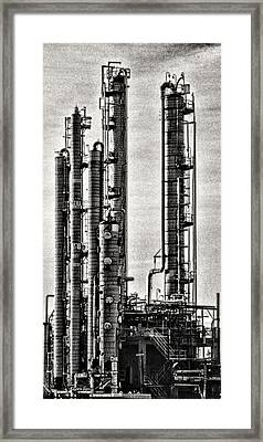 Industrial Scape In New Jersey Framed Print