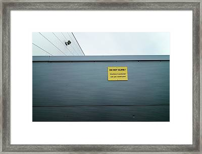 Industrial Security Framed Print by Robert Brook