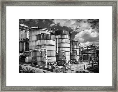 Industrial Silos. Framed Print by Gary Gillette