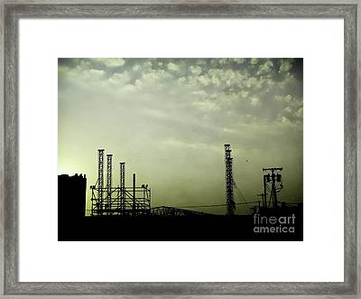 Industrial Sky Framed Print by Colleen Kammerer