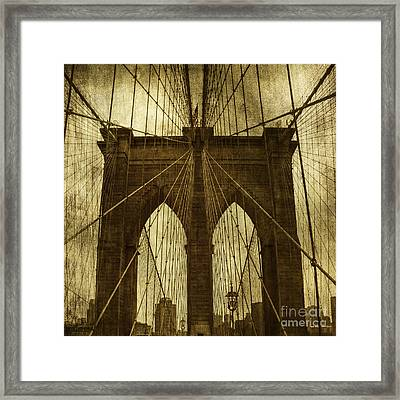 Industrial Spiders Framed Print