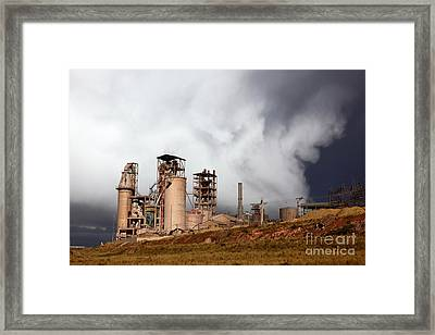 Industrial Storm Framed Print by James Brunker