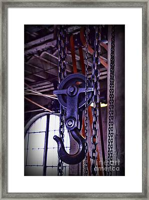 Industrial Strength Chains Framed Print