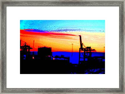 admire an Industrial sunset, because culture is also nature  Framed Print