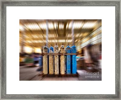 Industrial Teleporting Framed Print by Sinisa Botas