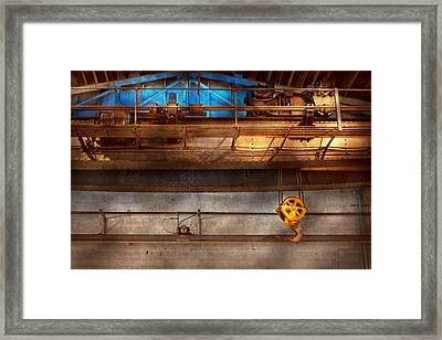 Industrial - The Gantry Crane Framed Print by Mike Savad