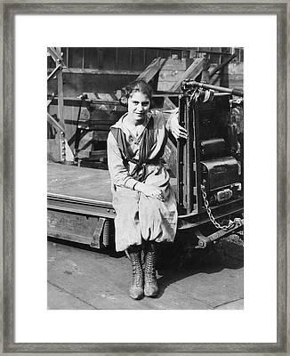 Industrial Truck Operator Framed Print