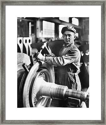 Industrial Welder Framed Print by Hagley Museum And Archive