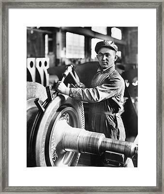 Industrial Welder Framed Print