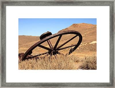 Industrial Wheel Framed Print