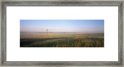 Industrial Windmill, Nebraska Framed Print by Panoramic Images