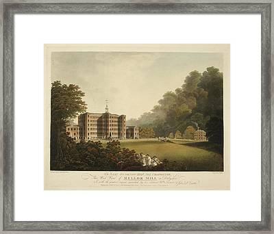 Industrial Woollen Mill In 1803 Framed Print