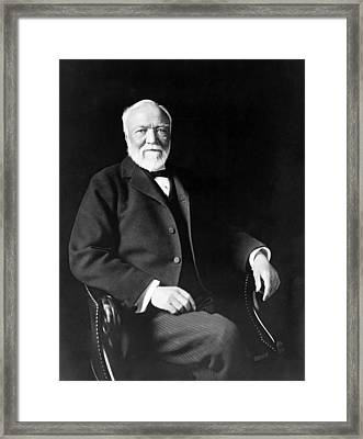 Industrialist Andrew Carnegie Framed Print