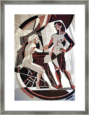 Industrialization Of Soul Framed Print by Olga Sorokina