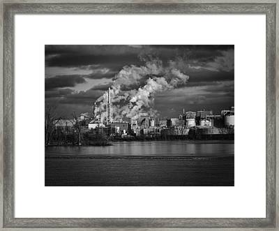 Industry In Black And White 1 Framed Print by Thomas Young