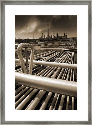 Industry Oil Gas And Fuel Framed Print