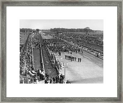 Indy 500 Crowd Framed Print by Underwood Archives