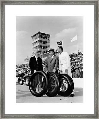 Indy 500 Firestone Tires Framed Print