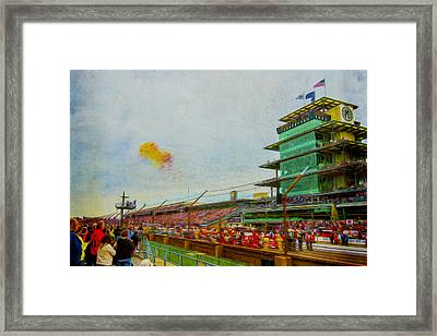 Indy 500 May 2013 Race Day Start Balloons Framed Print by David Haskett