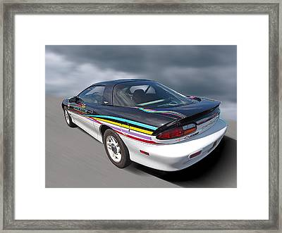 Indy 500 Pace Car 1993 - Camaro Z28 Framed Print by Gill Billington