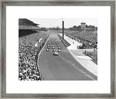 Indy 500 Parade Lap Framed Print by Underwood Archives