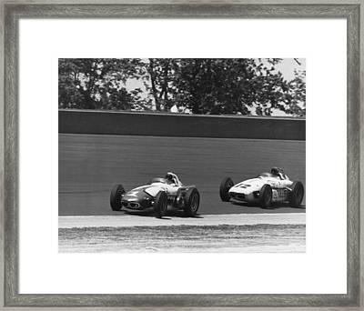 Indy 500 Race Cars Framed Print