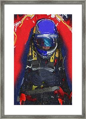 Indy Car Pilot Framed Print
