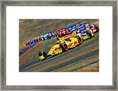 Indy Car's Ryan Hunter-reay Framed Print by Blake Richards