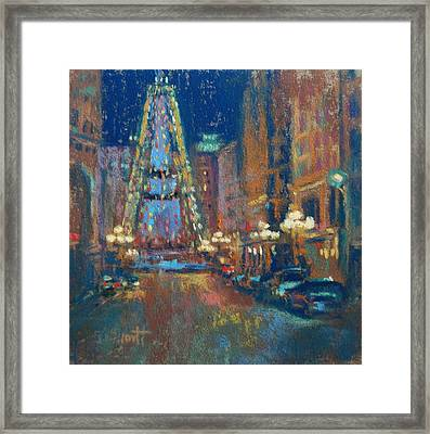 Indy Circle Christmas Framed Print by Donna Shortt