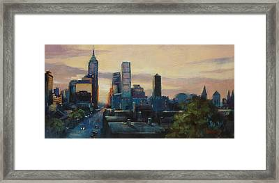 Indy City Scape Framed Print