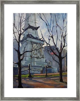 Indy Monumental Framed Print by Donna Shortt