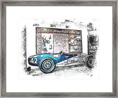 Indy Race Car 3 Framed Print