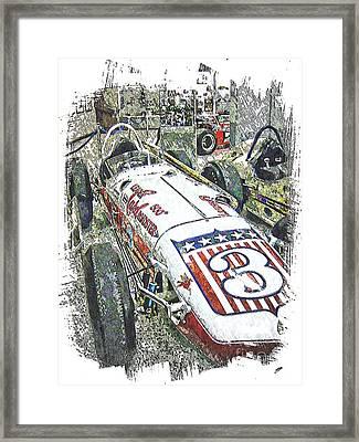 Indy Race Car 6 Framed Print
