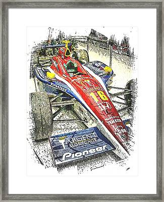 Indy Race Car 7 Framed Print by Spencer McKain