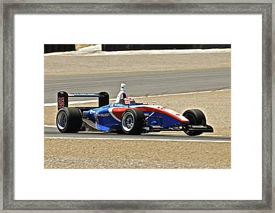 Indy Red White And Blue Framed Print by Dave Koontz