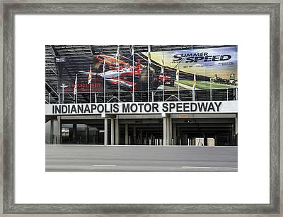 Indy Speddway Framed Print