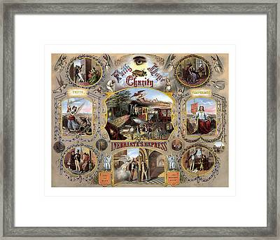 Inebriate Express Vintage Temperance Poster Framed Print by War Is Hell Store