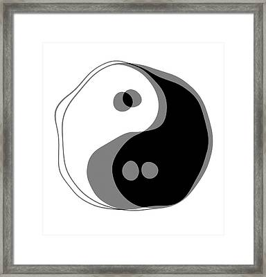 Inebriated Yin Yang Framed Print by Daniel Hagerman