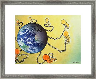 Inextricably Connected To The Planet Framed Print by Paulo Zerbato