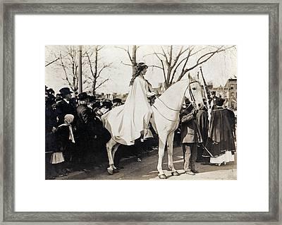 Inez Milholland (1886-1916) Framed Print