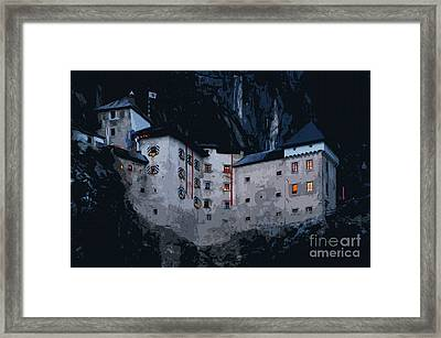 Infamous Jim-jam Predjama Castle Framed Print
