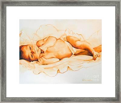 Infant Awake Framed Print