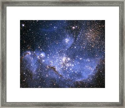 Infant Stars In The Small Magellanic Cloud Framed Print by Nasa