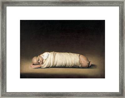Infant Framed Print by Odd Nerdrum