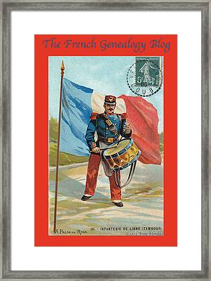 Infantry Of The Line Drummer With Fgb Border Framed Print