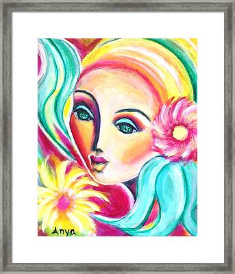 Framed Print featuring the painting Infatuated by Anya Heller
