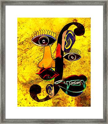 Infected Picasso Framed Print