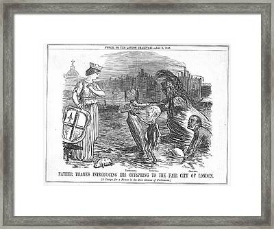 Infected Thames Water Framed Print by Universal History Archive/uig